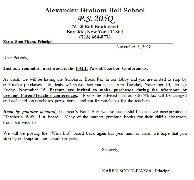 Fall Scholastic Book Fair Ps 205q The Alexander Graham Bell School