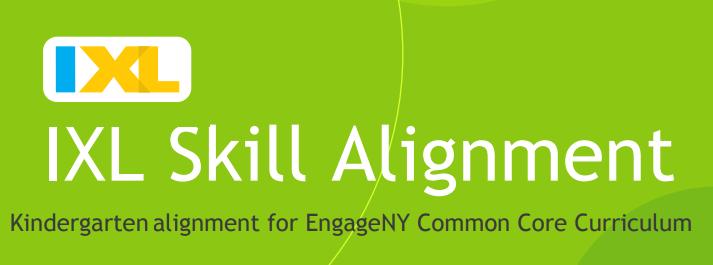 IXL Skill Alignment kindergarten
