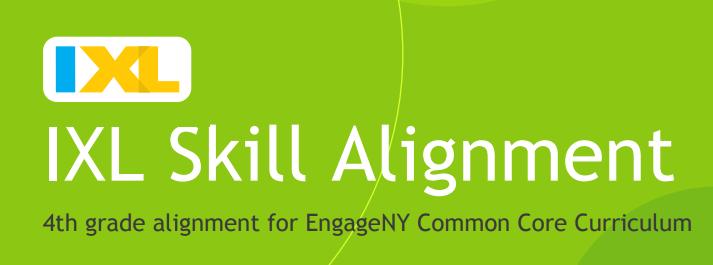 IXL Skill Alignment 4th grade