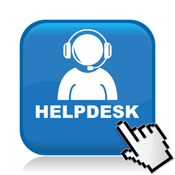 image of blue helpdesk icon and link to NYC DOE help desk website