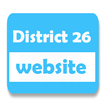 image that says district 26 website and links to district 26 website