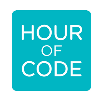 image of green box with words hour of code links to hour of code website