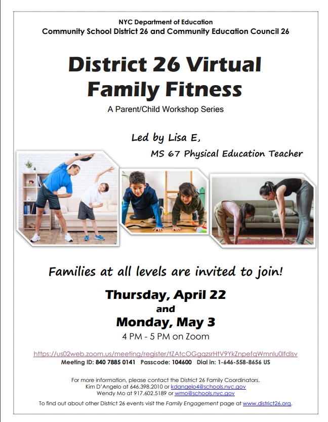 District 26 Virtual Family Fitness flyer.  Click for PDF