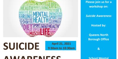 suicide awareness flyer. april 21, 2021.