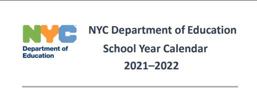 link to nyc dept of ed school calendar 2021-2022