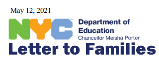 letter to families 5-12-2021 NYC DOE link to letter