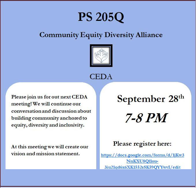 community equity diversity alliance.  link to sept 28th meeting registration.