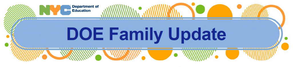 nyc doe family update. link to doe flyer from may 3, 2021