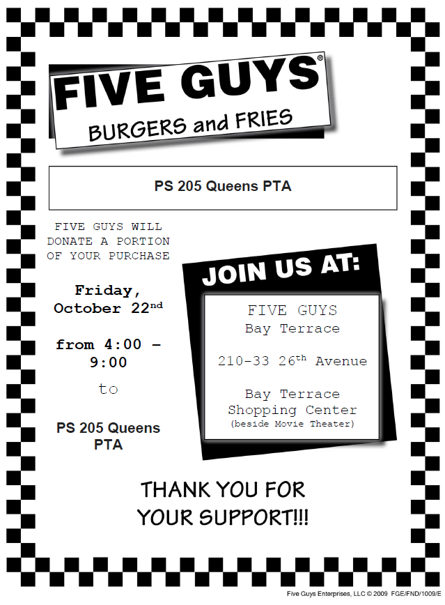 link to 5 guys fundraiser oct 22 2021