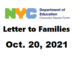 link to DOE family letter oct 20, 2021